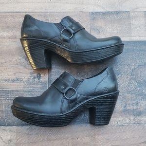 Born Black Clog Heels Size 11